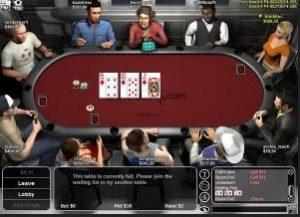 virtuelt pokerbord
