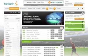 betsson sportsbook screenshot
