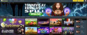 slotsmoon screenshot casinopage
