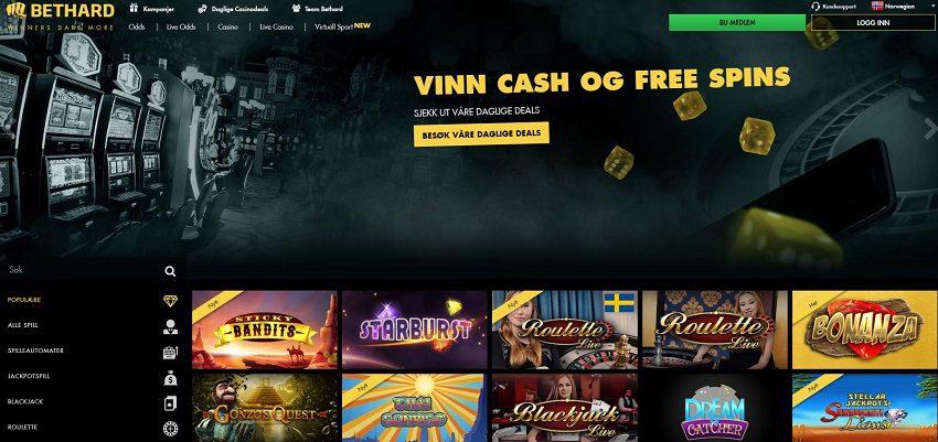 bethard screenshot homepage 2017