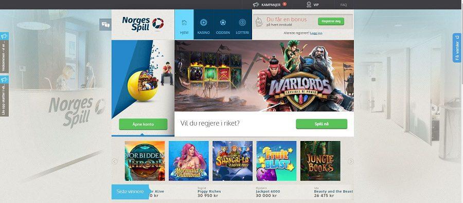 screenshot norgesspill