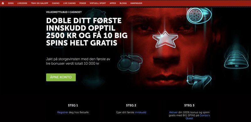 Betsafe Casino nettside