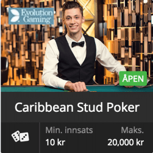 Evolution Gaming – Caribbean Stud Poker