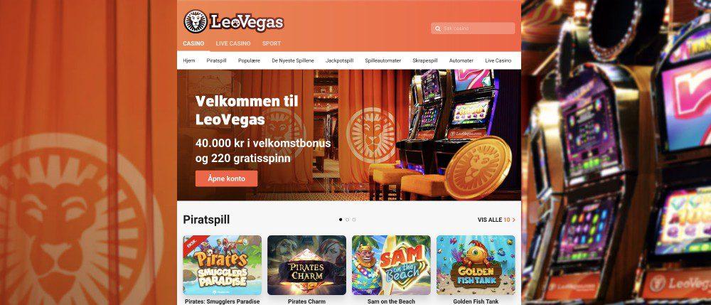 Nettsiden til LeoVegas