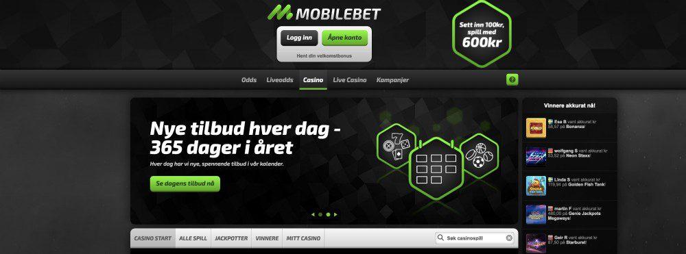 Nettsiden til MobileBet