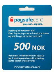 PaysafeCard 500NOK