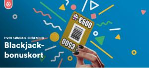 Casumo Blackjack Bonuskort