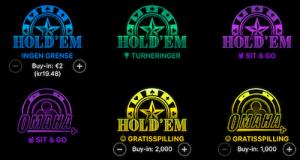 Pokersider utvlag
