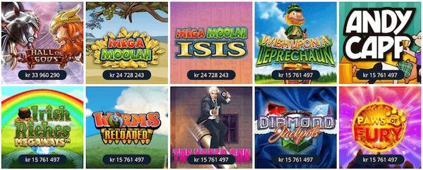 Betsson spilleautomater med jackpot